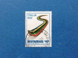 1997 ITALIA FRANCOBOLLO USATO STAMP USED SESTRIERES SCI ALPINO 850 - 6. 1946-.. Repubblica
