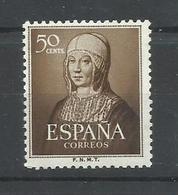 ESPAÑA EDIFIL  1092    MNH  ** - 1951-60 Nuevos & Fijasellos