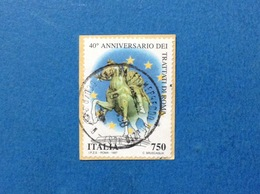 1997 ITALIA FRANCOBOLLO USATO STAMP USED TRATTATI DI ROMA - 6. 1946-.. Repubblica