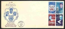 QATAR - 1966 - Anno Della Cooperazione (114/117A) - Serie Completa Su Busta FDC 8.3.66 (50) - Stamps
