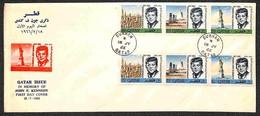 QATAR - 1966 - Kennedy (128/133A) - Serie Completa Su Busta FDC 18.7.66 (40) - Stamps