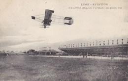 Lyon-Aviation - Chavez (biplan Farman) En Plein Vol - Piloten