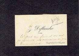 NEUFVILLES-LEZ-SOIGNIES 1900-1910 ANCIENNE CARTE DE VISITE - Z. DEFLANDRE - Curé - Visiting Cards