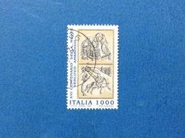 1997 ITALIA FRANCOBOLLO USATO STAMP USED VESCOVO AMBROGIO - 6. 1946-.. Repubblica
