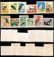 VIETNAM - 1963/1966 - Uccelli (275/280 + 456/461) - 2 Serie Complete - Nuove Senza Gomma (46) - Stamps