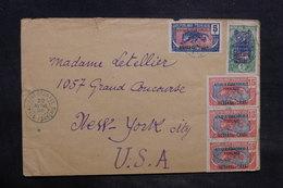 OUBANGUI - Enveloppe De Fort Crampel Pour New York En 1926,  Affranchissement Plaisant Recto Et Verso - L 34485 - Lettres & Documents