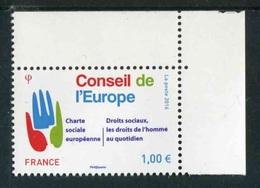 """TIMBRE** De 2016 En Coin De Feuille """"1,00 € - CONSEIL DE L'EUROPE"""" - Officials"""