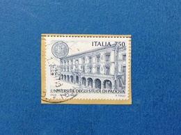 1997 ITALIA FRANCOBOLLO USATO STAMP USED UNIVERSITA' DI PADOVA - 6. 1946-.. Repubblica