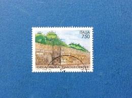 1997 ITALIA FRANCOBOLLO USATO STAMP USED MURA ARCHEOLOGICHE TIMOLEONTEE DI GELA - - 6. 1946-.. Repubblica