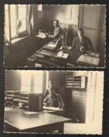 France - 90 - 2 Cartes-Photo - 1929/30 - Caserne Peloton 7 BOA - Les Bureaux - Belfort - Stadt