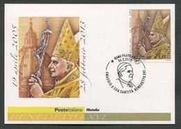 ITALIA FDC CARTOLINA MAXIMUM CARD 2013 - OMAGGIO A SUA SANTITA' BENEDETTO XVI - 159 - Päpste