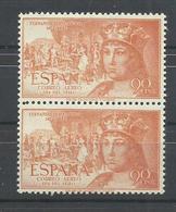 ESPAÑA EDIFIL  1112  (PAREJA)    MNH  ** - 1951-60 Nuevos & Fijasellos