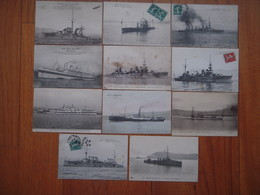 A  SAISIR !!!!  Lot 11 Cartes Navires De Guerre , Marine  ....... - Militaria