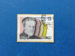 1997 ITALIA FRANCOBOLLO USATO STAMP USED ANTONIO ROSMINI - 6. 1946-.. Repubblica