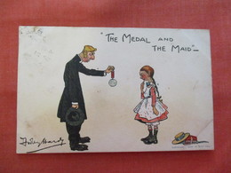 Signed Artist-  The Medal And The Maid  Ref  3479 - Humour