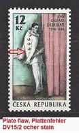 Czech Republic 1996 MNH ** Mi 115 Sc 2986 Jean Gaspard Deburau 1796-1846. Plate Flaw. Tschechische Republik. - Czech Republic