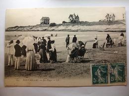 Carte Postale Pontaillac - Royan (17) La Plage (Petit Format Noir Et Blanc Oblitérée1909 Timbres 5 Centimes  ) - Royan