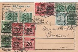 Allemagne Carte Inflation Geestemünde 1923 - Briefe U. Dokumente
