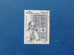 1997 ITALIA FRANCOBOLLO USATO STAMP USED PAPA PAOLO VI - 6. 1946-.. Repubblica