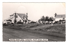 B&W Real Photo Véritable - RPPC - Lodge Inn Auberge - Cavendish Prince Edward Island Canada - Written 1959 - 2 Scans - Prince Edward Island