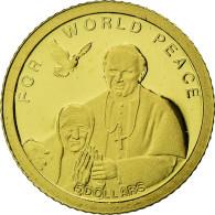 Monnaie, Îles Salomon, Elizabeth II, Jean Paul II Et Mère Térèsa, 5 Dollars - Salomonen