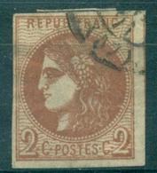 FRANCE N°40B Rep 2 Ob Partie De C à D Bien Cote 330 €. - 1870 Emission De Bordeaux