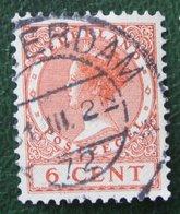 6 Ct Wilhelmina No Watermark NVPH 150 (Mi 152 A) 1924 -1925 1926 Gestempeld / USED NEDERLAND / NIEDERLANDE - Used Stamps