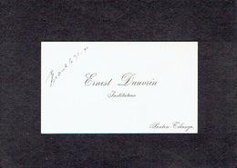 PONTON - TIHANGE 1910 ANCIENNE CARTE DE VISITE - Ernest DAUVRIN - Instituteur - Visiting Cards