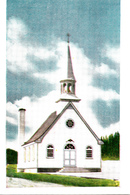 Chapelle Notre-Dame Assomption - Lac Jacques-Cartier Laurentides Québec Canada - Church Chapel Religion - 2 Scans - Quebec