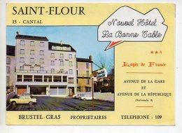 Ref EX : Dépliant Touristique Saint St Flour La Bonne Table (s'ouvre En 3 Partie Vue Du Restaurant à L'intérieur) - Dépliants Turistici