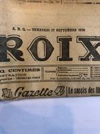 La Croix Du 17 Septembre 1926 - Journaux - Quotidiens