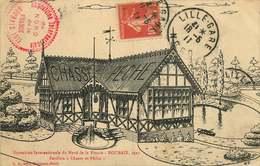 NORD  ROUBAIX Exposition Internationale Du Nord De La France Pavillon CHASSE / PECHE ( Cachet) - Roubaix