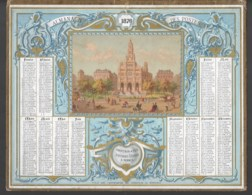 Almanach De Postes 1876  Eglise De La Trinité à Paris  Cartonnage Seul  état  B/TB - Formato Grande : ...-1900
