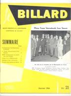 """Revue """" Le Billard """" N° 21 De Janvier 1964 (jm) - Sport"""