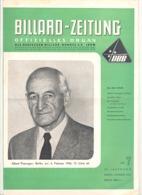 BILLARD - ZEITUNG Nr 7 De  1956 .(jm) - Sport