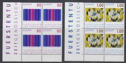 Europa Cept 1993 Liechtenstein 2v  Bl Of 4 (corners) ** Mnh  (43458B) - 1993