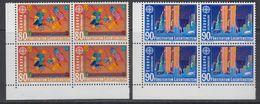 Europa Cept 1992 Liechtenstein 2v Bl Of 4 (corners) ** Mnh (43458E) - 1992