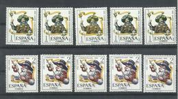 ESPAÑA EDIFIL 1672/73   ( 5 SERIES)  MNH  ** - 1961-70 Nuevos & Fijasellos