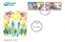 Føroyar 1995; FDC Michel 278-279, Europa Cept. - Faroe Islands