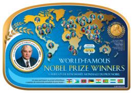 DJIBOUTI 2019 MNH Mikhail Gorbachev Nobel Prize Winners Nobelpreisträger M/S - OFFICIAL ISSUE - DH1919 - Premio Nobel
