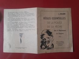 Livret Regles Essentielles De La Police De La Peche Aveyron 1960  J Teillard - Pêche