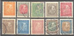 Islande: Yvert N° 34/44°; 10 Valeurs; Cote 34.00€ - 1873-1918 Deense Afhankelijkheid