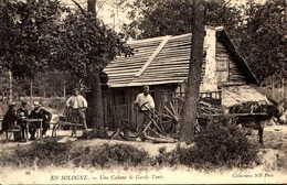 CPA - EN SOLOGNE - Une Cabane De Garde Vente, Animé  TTBE - Francia