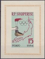1963, Albanien, 752 Block 19 B, Olympische Sommerspiele 1964, Tokio, MNH ** - Albanie