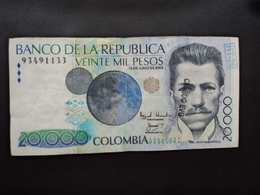 COLOMBIE : 20 000 PESOS  13.6.2003   P 454f        TTB+ - Colombia