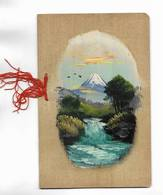 CHINE - Carte  Correspondance Peinte à La Main Sur Mince Feuille De Bois, Envoyée Chine. Beau Dessin - Historical Documents