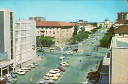 !  Modern Postcard Bulawayo, Rhodesia, Banks, Barclay Bank, High Court, Autos, Cars - Simbabwe