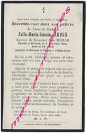 En 1919 Bailleul (59) Julia DEVOS Ep Elie HEMAR 68 Ans - Décès