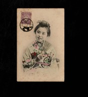 Cartolina Giappone Illustrata - Young  Geisha  -  With Stamp Not Sent - Giappone
