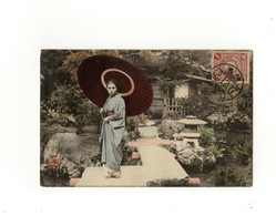 Cartolina Giappone Illustrata - Geisha  -  With Stamp Not Sent - Giappone